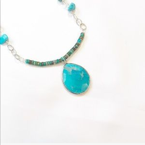 HANDCRAFTED SILVER TURQUOISE NECKLACE